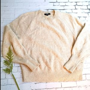 Uniqlo Size M Textured Oatmeal Knit Jumper